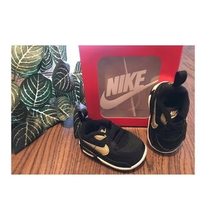 NIKE BABY AIR MAX GYM SHOES 90 SIZE 1c 0-3 MONTHS